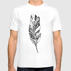 Feather - Lucidity White SMALL Mens Fitted Tee