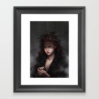 Falling From High Places Framed Art Print