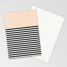 STRIPE COLORBLOCK {CREAM} Stationery Cards