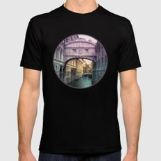 Ponte dei Sospiri | Bridge of Sighs - Venice (colored version) Mens Fitted Tee Black SMALL
