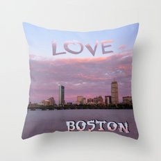 Love Boston Throw Pillow