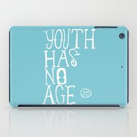 Youth Has No Age (Blue) iPad Case