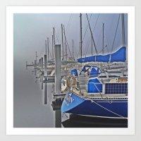 N is for Nautical (Sailboat) Art Print
