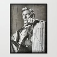 Canvas Print featuring Honest Abe by Christine Workman