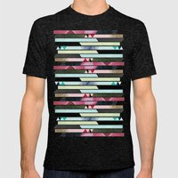 Aztec Stripe Mens Fitted Tee Tri-Black SMALL