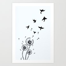 Birds In The Wind Art Print