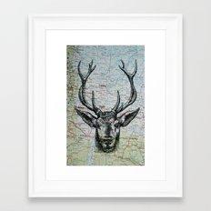 Russian Deer Framed Art Print