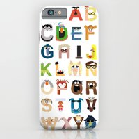 iPhone Cases featuring Muppet Alphabet by Mike Boon