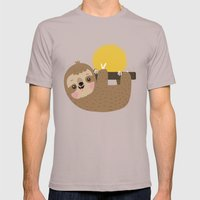 Happy Sloth Mens Fitted Tee Cinder SMALL