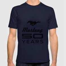 Ford Mustang 50 Years Mens Fitted Tee Navy SMALL