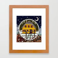 Squeaky gate Framed Art Print