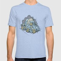 LATE NIGHT READINGS Mens Fitted Tee Tri-Blue SMALL