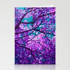 Purple Tree II Stationery Cards