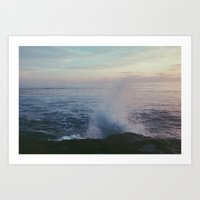 splashed. Art Print