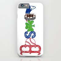 boston iPhone & iPod Cases featuring Boston by Michela Deck