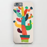 iPhone Cases featuring Whimsical Cactus by Budi Kwan