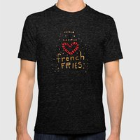 I Love French Fries Mens Fitted Tee Tri-Black SMALL