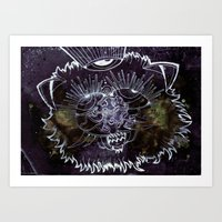 The Pussy who saw the end... Art Print