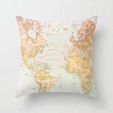 Pastel World Throw Pillow