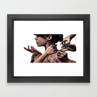 You know I'd rather work alone Framed Art Print