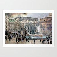 London XI - Trafalgar Square  Art Print
