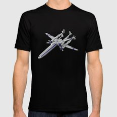 In A Galaxy Not Far Away Mens Fitted Tee Black SMALL