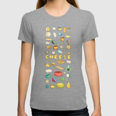Cheese Lover Womens Fitted Tee Tri-Grey SMALL