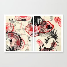 All Stuck in This Red Space Canvas Print