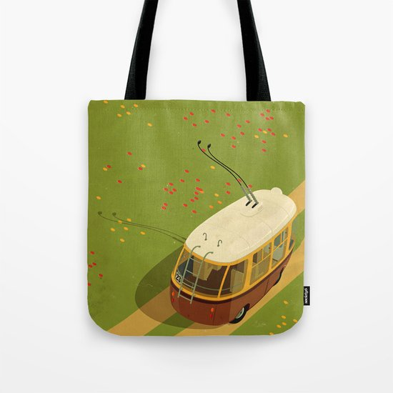 Trolley Rides The Field Tote Bag