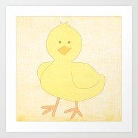 Baby Chick Farm Animal Series Art Print