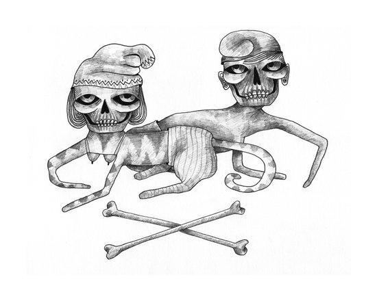 Bone Couple Art Print