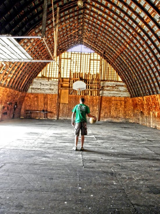 Basketball Barn Art Print