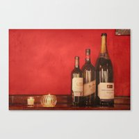 Wine On The Wall Canvas Print