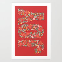 JOY In Red Art Print