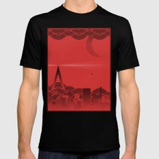 une nuit à paris (red version) Black Mens Fitted Tee SMALL