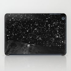Moon Rising in the dark Black and White iPad Case
