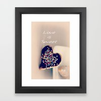 Love is Sweet  - JUSTART © Framed Art Print