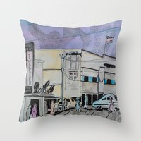 Jasper Avenue: Old Stree… Throw Pillow