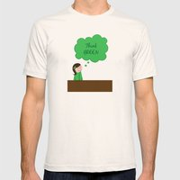 Think Green Mens Fitted Tee Natural SMALL
