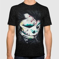 SLICK Paint Mens Fitted Tee Tri-Black SMALL