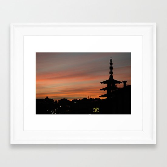 japantown Framed Art Print