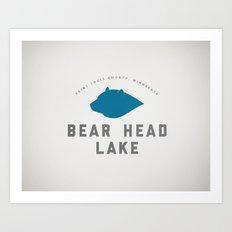 Bear Head Lake Art Print