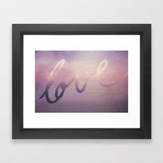 love purple Framed Art Print