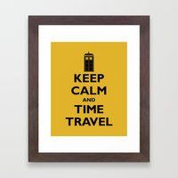 Keep Calm And Time Travel Framed Art Print