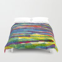 stripes traffic Duvet Cover