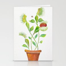 Venus Fly Trap Watercolo… Stationery Cards