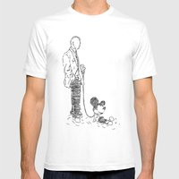 Walking The Dog Mens Fitted Tee White SMALL