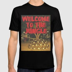 welcome to the jungle Black SMALL Mens Fitted Tee