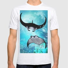 Manta Rays Mens Fitted Tee Ash Grey SMALL