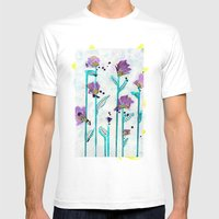 Leggy Purple Mens Fitted Tee White SMALL